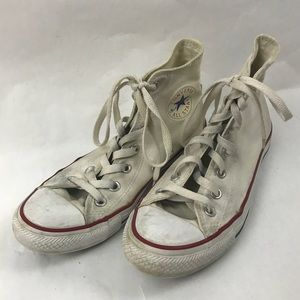 High top white chuck Taylor converse
